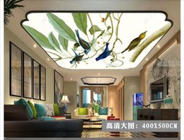 Small House Decoration Australia - 3D photo custom ceiling mural wallpaper interior decoration HD big picture green small fresh leaves small zenith ceiling background mural