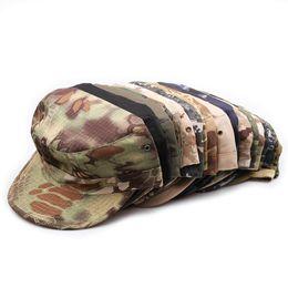 Nouvelle unisexe patrouille militaire Camo de chasse Cap Armée Camouflage Chapeau fans soldat Casquettes Casquette de baseball Chapeau de soleil en Solde