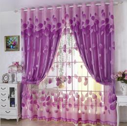 Red Cloth Curtain Australia - Yarn + cloth Luxury Curtain Modern Leaves Designer Curtains Tulle Window Sheer Curtain For Living Room Bedroom Window Screening Panel