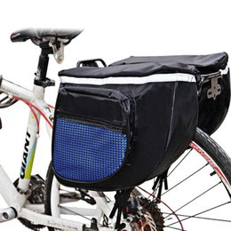 bicycle panniers rear NZ - Waterproof Bike Rack Back Rear Seat Tail Carrier Trunk Double Pannier Bag Back Rain Cover bicycle bag
