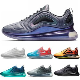promo code 7244c f994b Nike Air Max 720 Shoes 2019 720 Laufschuhe Herren Damen Nordlichter Neon  Triple Schwarz Carbon Grau Sunset Corss Wandern Jogging Walking Sport  Turnschuhe ...