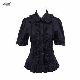 $enCountryForm.capitalKeyWord Australia - Ainclu Hot Selling Cemavin Womens XS To XXL Cotton Black Ruffle Lolita Blouse for Usually days Party Halloween