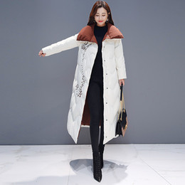 $enCountryForm.capitalKeyWord Australia - Ukraine 2019 Plus Size Turn Down Collar Cotton Padded Jacket Long Embroidery Elegant Warm Snow Winter Coat Women Clothes QH297