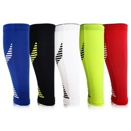 d021aee115 2019 Basketball Sport Protect Leg Sleeve Sports Compression Calf Stretch  Brace Thigh Skin Protector Sport Safety Calf Sleeve Pad
