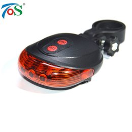 Tail Light Laser UK - New 5 LED 2 Laser 7 Flash Mode Bicycle Rear light Bike accessories Bicycle Laser Back Tail Lamp For Cycling 2 Color Red Blue