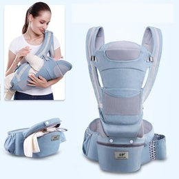 infant carrier sling Canada - 3 In 1 Baby Carrier Ergonomic Infant Kid Baby Hipseat Sling Kangaroo Baby Wrap Carrier Large Capacity Storage Bags 0-48 months