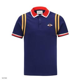 Diseñador para hombre Camisas de polo Bordado Abeja Manga corta Polo Marca Básico Top Camisetas de manga larga Tallas grandes en venta