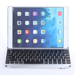 $enCountryForm.capitalKeyWord NZ - For iPad Air 2 Wireless Bluetooth Smart Backlight Keyboard Cases Aluminum Alloy Ultra thin Tablet PC Stand Cover For iPad Air Air2 5