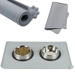 Опт Водонепроницаемый коврик для домашних животных Силиконовые домашние собаки щенка щенк