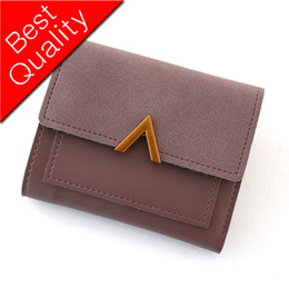 Vintage Lacing Cards Australia - Women Wallet Leather Card Holder Coin Purse Envelope Wallet Money Pocket Short Slim Women Bags High Quality Vintage Female Purse