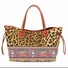 $enCountryForm.capitalKeyWord Australia - Personalize Round Straw Bag Soft Canvas Casual Totes Fashion Ladies Leopard Handbag Designer Bag Famous Brand Women Bags 2018
