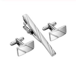 $enCountryForm.capitalKeyWord Australia - Simple Diagonal Stripe Bussiness Tie Clip Cufflinks For Mens Set Cufflinks High Quality Tie Pin Cufflinks Set Men Jewelry Gifts