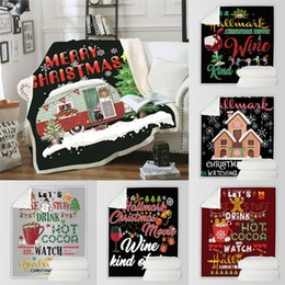 gift throw Australia - Christmas Blanket Rectangle Plush Throw Blankets Fleece Cloaks Kids Bedding Sheet Sofa Cover Thickening Mantle Bedspread Xmas Gift KCG1225