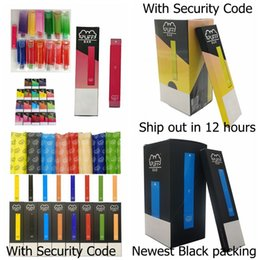 Newest Puff Bar Disposable Pod Device With Security Code 280mAh Battery 1.3ml Capacity Puffbar Vape pen Empty Vape Cartridge Packaging on Sale