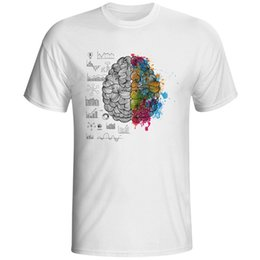 $enCountryForm.capitalKeyWord Australia - Colorful VS Black Brain T-Shirt For Men Women Science Chemistry Biology Art Geography Math Physics Cool Casual Funny T Shirt