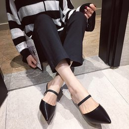 $enCountryForm.capitalKeyWord Australia - Pretty2019 Style Rome Fine With Sharp Back Rubber Half Drag Dawdler Ol Single Woman Sandals