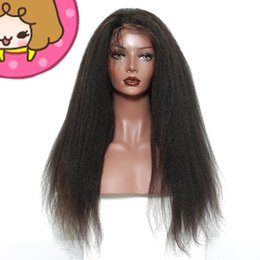 Best Color For Hair Australia - Best selling unprocessed raw cheap virgin human hair long natural color remy yaki straight wig for women