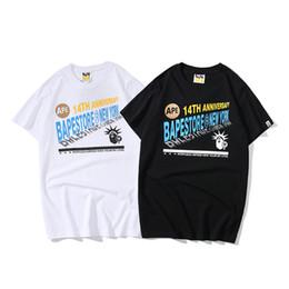 Mens Shirt Material UK - 2019 mens clothing summer new designer tshirt round neck men t shirt short sleeve loose T-shirt cotton material print tshirts male shirts