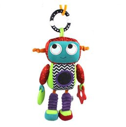 $enCountryForm.capitalKeyWord UK - Baby Plush Mobile Musical Rattle Toys Android Robot Baby Handing Toys for Newborn 0-12 month Early Educational Toys Doll