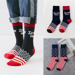 $enCountryForm.capitalKeyWord Australia - US Trump 2020 Sports sock 4 styles trump USA Flags Pattern Lovers stocking Fashion Hose Fit Men Woman MJY679