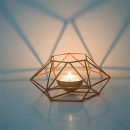 $enCountryForm.capitalKeyWord Australia - Metal Geometry Lighting Candle Holder Line Pricket Delicate Home Decorate Hyaline Candler Originality Pure Color Hot Sale 11 79lpE1