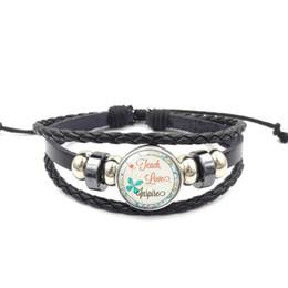 $enCountryForm.capitalKeyWord Australia - New Teacher Braided rope leather bracelets for women men Thankful Letter charm Bangle Fashion Teachers' Day Jewelry Gift
