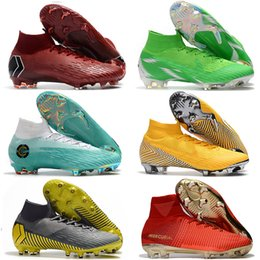 Football Kids Superfly Australia - Mercurial Superfly VI 360 Elite FG Knit Kids Mens Soccer Cleats Cr7 chaussures Crampons de football botas de fútbol Eur 35-46