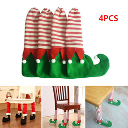 Table legs online shopping - 4PCS Christmas Chair Table Leg Foot Socks Bag Prevent Scraping Decorations Gift