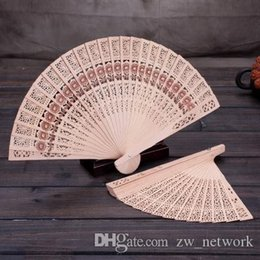 hand fans japanese NZ - DHL Custom Chinese Sandalwood Scented fans Wooden Openwork craft fan personal Hand Held Folding Fans for Wedding gift Birthday Home Decor