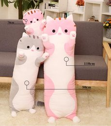 cartoon make toys NZ - New Cute Stuffed Toys Cartoon Hooded Pig Doll Doll Kawaii Sleeping Pillow Pig Doll Plush Toy for Children Birthday Gifts 3 Sizes