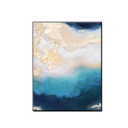 painting clouds Australia - Hot sale Modern gilding cloud blue sky landscape wall art home decor Hand-painted Abstract Oil Painting on canvas for living room no framed