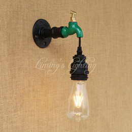 Vintage Water Pipes Australia - Europe Wall Lamp Indoor Lighting Iron Vintage Classic Water Pipe Light For Living Room Bedroom Restaurant Bar 220v E27