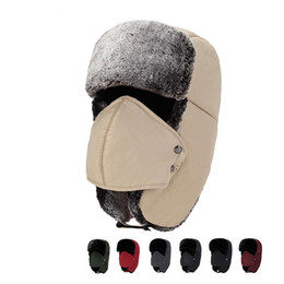 f90c85503ce Outdoor Warm Ushanka With Ear Flaps Aviator Russian Plush Hat Winter Hats  Men Women Skiing Sport Windproof Caps 14zq hh