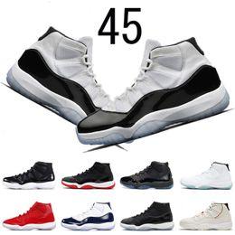 4eeaf129ccf8e4 Air jordan retro 11 Concord 45 11s Chaussures de basket pour homme Teinte  platine CAP ET