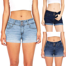 $enCountryForm.capitalKeyWord Australia - Blue Crimping Denim Shorts For Women 2019 Summer New Casual Plus Size Ripped Hole Short Jeans Womens Low Waist Shorts z0527