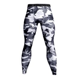 China 2019 Mens Joggers Fitness Pants Camouflage Workout Leggings Skinny Casual Men Jogger Track Pants Trousers cheap camouflage workout leggings suppliers