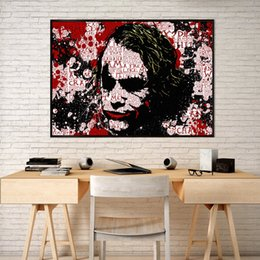 marvel canvas prints 2019 - Joker Marvel Movie Avengers Art Canvas Poster Oil Painting Wall Picture Print For Liivng Room Home Bedroom Decoration di