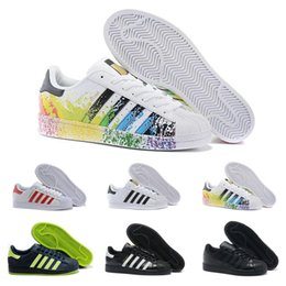 Hologram Shoes NZ - designer shoes Superstar Original White Hologram Iridescent Junior Gold Superstars Sneakers Originals Super Star Women Men sport shoes