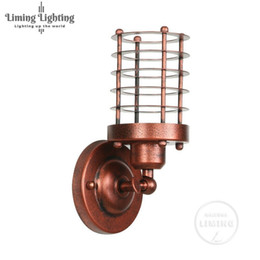 Vintage Wall Switch Australia - American Retro Country Loft Style LED Edison Bulb Lamps Industrial Vintage Iron Wall Light For Bar Cafe Home Lighting Fixtures