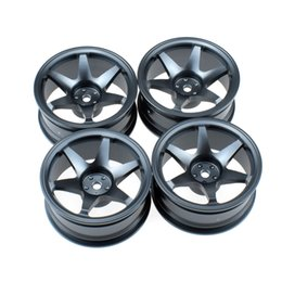 $enCountryForm.capitalKeyWord NZ - 4Pcs Aluminum Alloy Wheels Rims for 1 10 RC HSP Tamiya HPI Kyosho On-Road Drift Ca