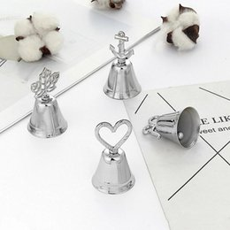 silver wedding bell place card holders NZ - Metal bell design photo and place card holder charming wedding table centerpiece kids party supplies