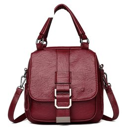 $enCountryForm.capitalKeyWord Australia - good quality Pu Leather Backpack For Female Fashion Solid Color Rucksack For Women Korean Style High Quality Backpack Women