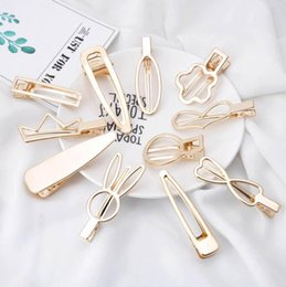 korean kids hair clip Australia - Korean Ins DIY designer hair clips women gold princess girls hair clips hair accessories for women BB clips fashion kids barrettes