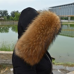 Soft Fur Scarf Australia - 100% Raccoon Fur Collar Winter Women's Real Fur Collar Neck Cap 60 70 80cm Collar Soft Fur Scarf Neck Warmer Scarves Fashion D19011003