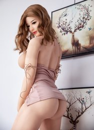 sexy life sized sex dolls UK - 164cm Big Breast Japanese Silicone Sex Dolls Real Adult Doll Metal Skeleton Sexy Toys Real Love Doll Vagina Realistic Ass