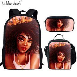 AfricAn AmericAn creAm online shopping - Jackherelook set Student Backpack African Afro Queen Child Teenage Girls Bookbag American Black Art Girl Print Pencil Bags