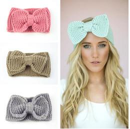 $enCountryForm.capitalKeyWord Australia - Women Lady Fashion Crochet Big Bow Knot Turban Knitted Head Wrap Hairband Winter Ear Warmer Headband Hair Band
