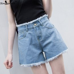 Jeans Bottoms Useful New Arrival Casual Summer 2019 Hot Sale Denim Women Shorts High Waists A-lined Leg-openings Black Sexy Short Jeans