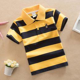 $enCountryForm.capitalKeyWord Australia - Boys Striped Summer Polo Shirts School Children Clothing Cotton Short Sleeve Turn-down Collar Buttoned Sports Tees