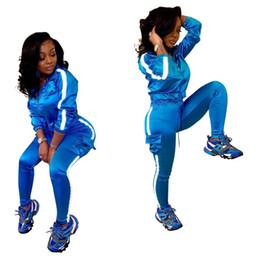 Yoga Pants Jacket UK - womens long sleeve tracksuit jacket pants sportswear hoodie legging 2 piece set sweat suit outerwear tights outfits sweat suit hot klw1113